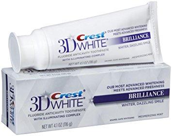 Creme dental Crest 3D White Brilliance - creme dental branqueador de dentes
