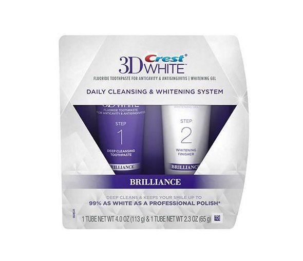 Crest 3D White Brilliance Sistema de clareamento em 2 etapas - pasta de dente